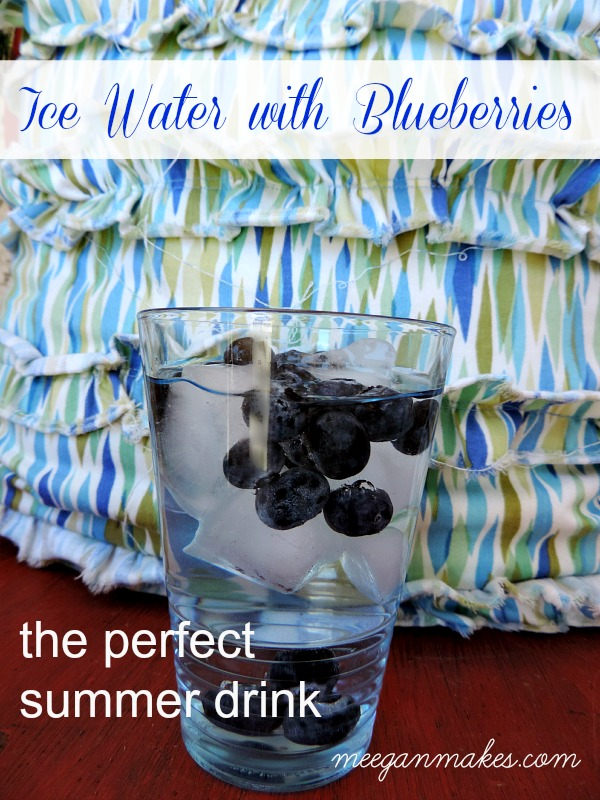 Ice Water With Blueberries