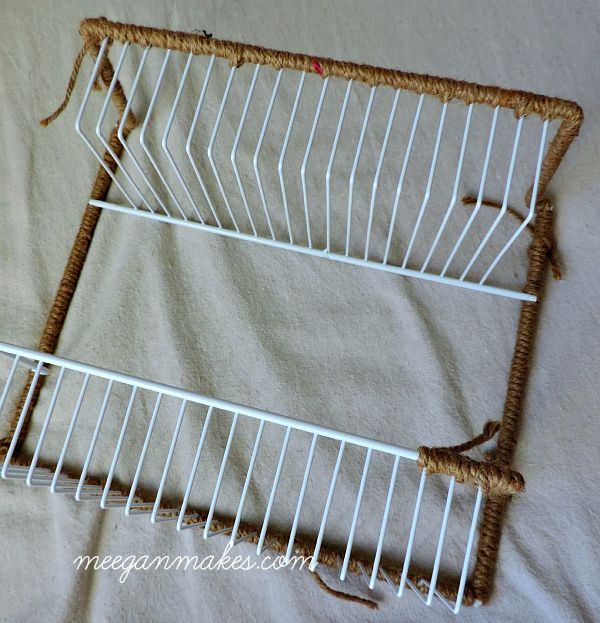 Spice Rack wrapped with Jute