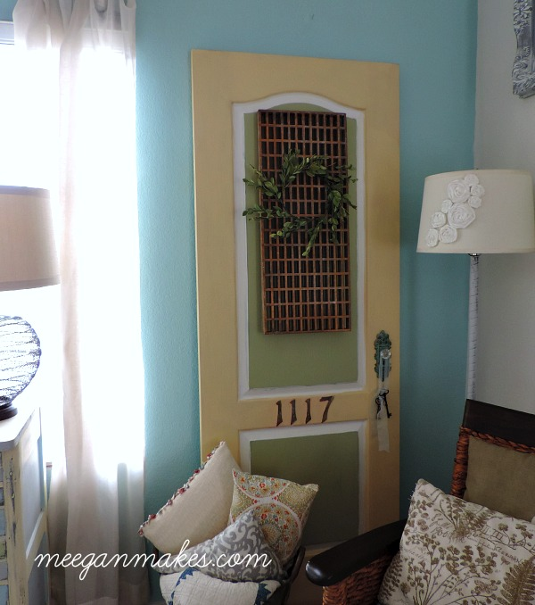 Thrifted Door Painted with Fusion Mineral Paint meeganmakes.com