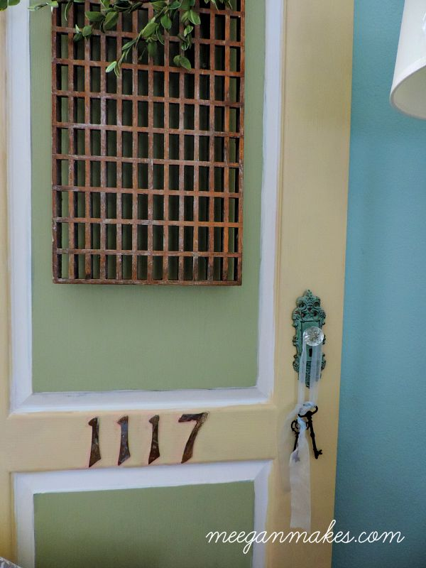 Thrifted Door with Vintage Floor Grid