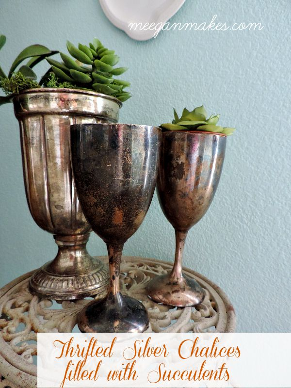 Thrifted Silver Chalices