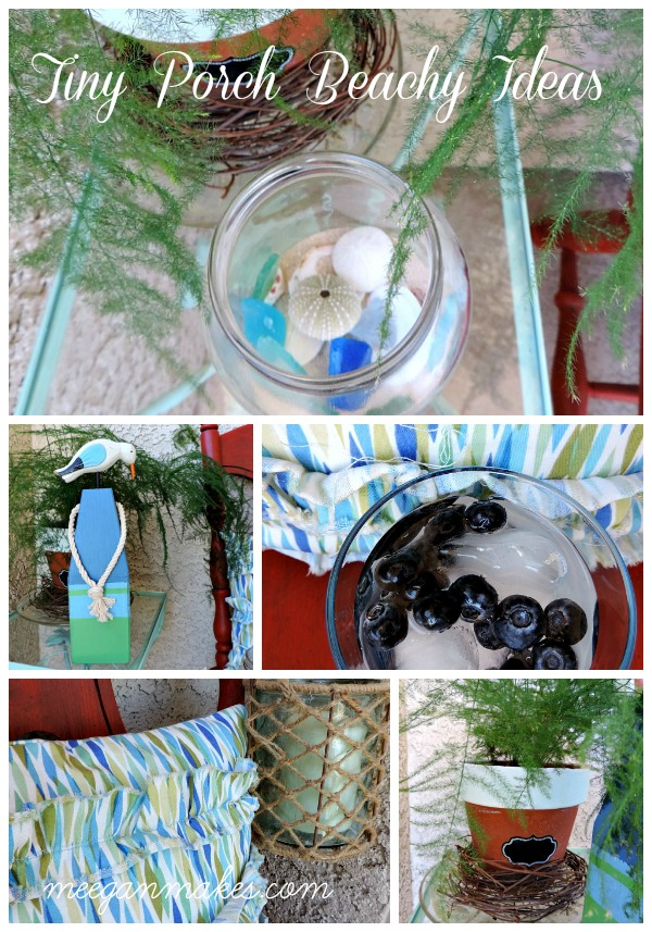 Tiny Porch Beachy Ideas Collage