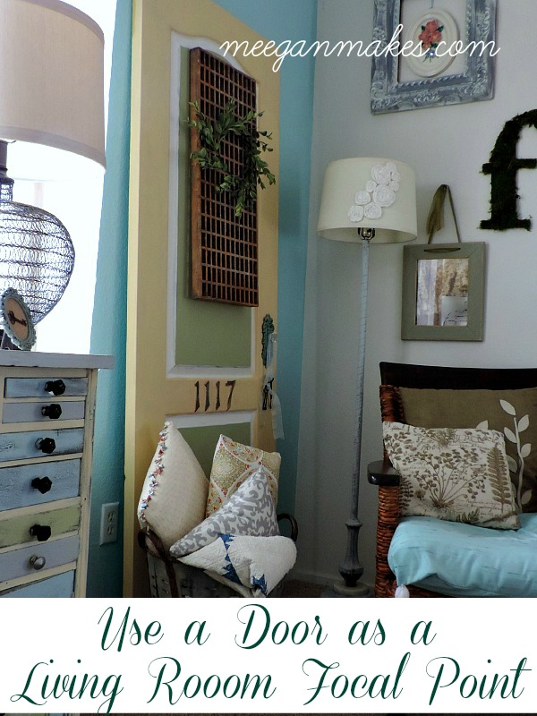 Use a Door as a Living Room Focal Point