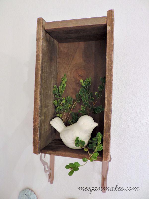 Barn Wood Box on Brackets
