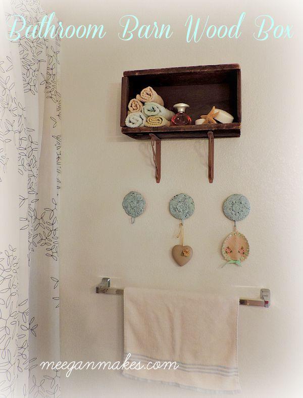 Bathroom Barn Wood Box LowesDIYDays