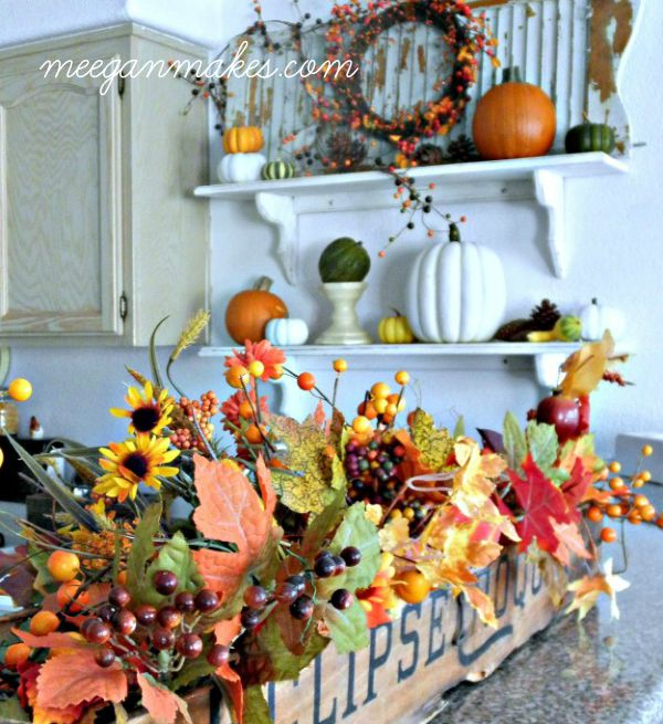 Croquet Box Filled with Leaves and Berries