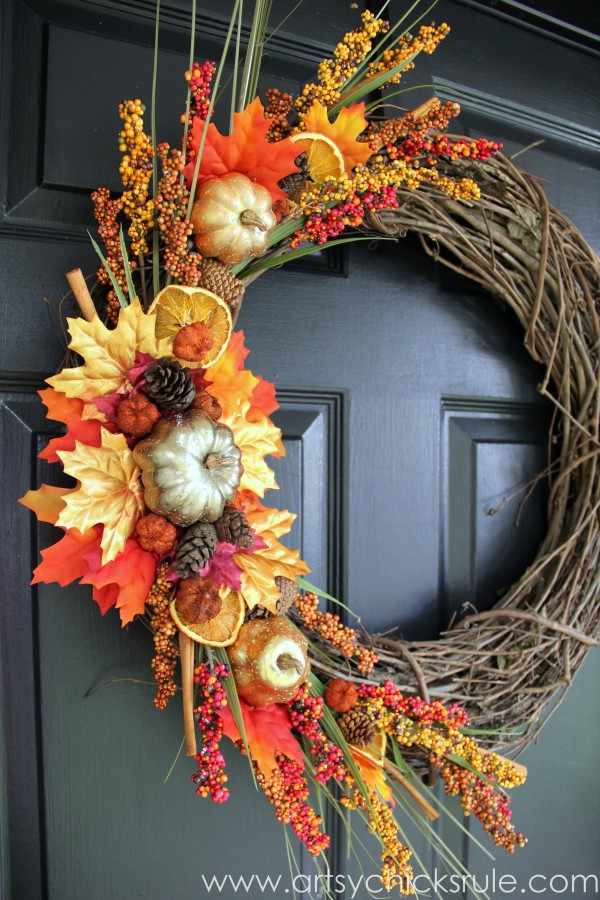 Using leaves for fall decorating what meegan makes Making wreaths