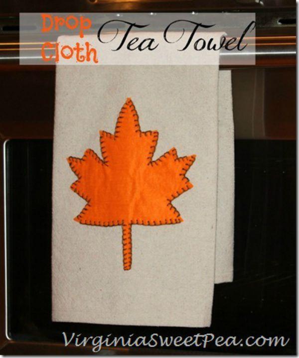 Drop Cloth Tea Towel by Sweet Pea_thumb