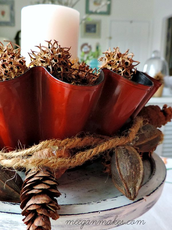 Fall Centerpiece with a Fluted Pan