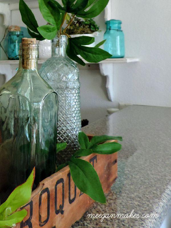 Thrifted Green Bottles