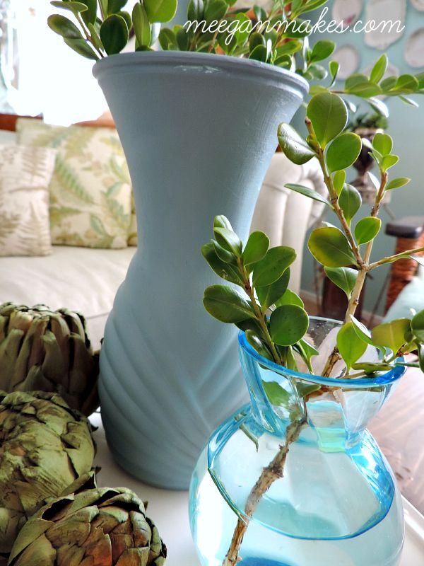 West Elm Inspired Painted Vase