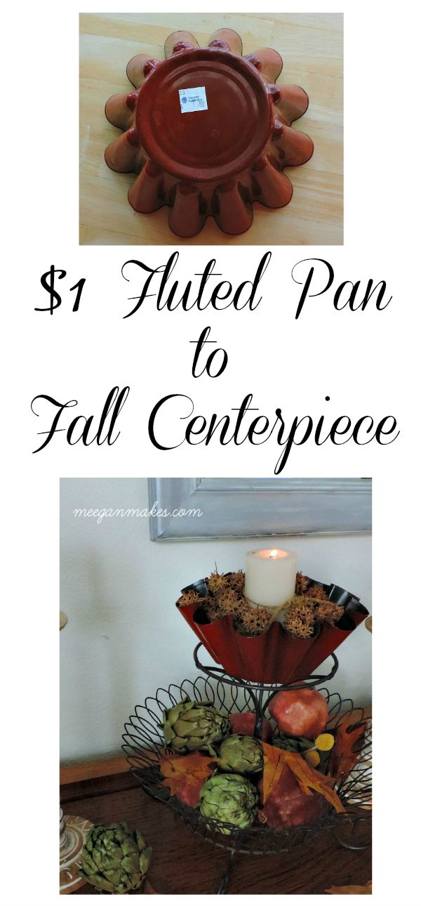 $1 Fluted Pan To Fall Centerpiece