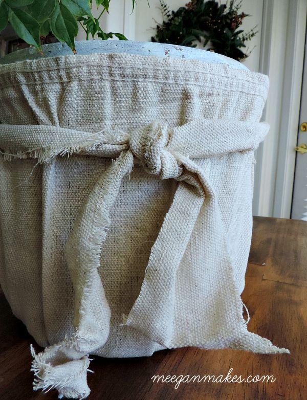Anthro Inspired Drop Cloth Bucket