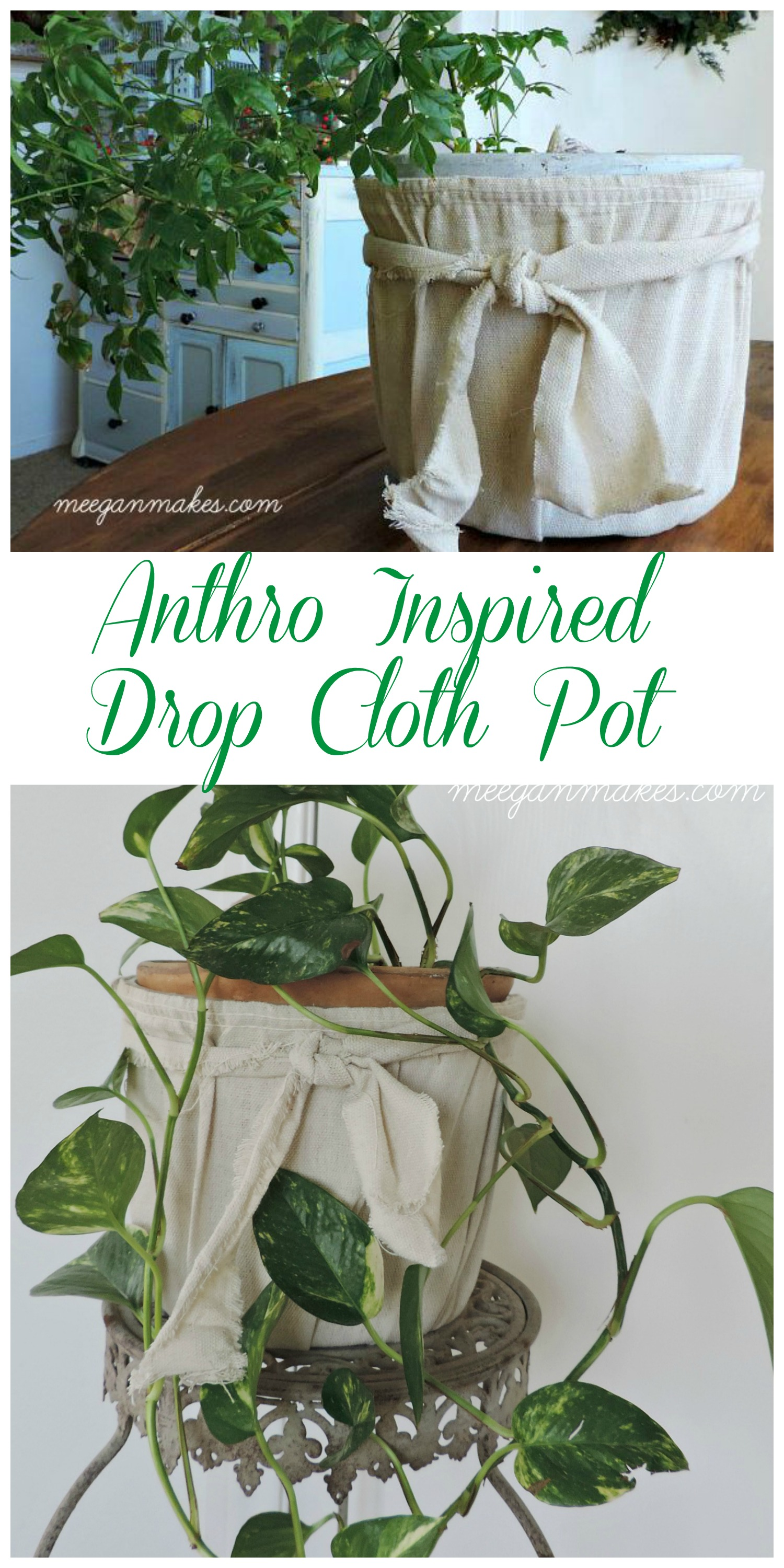 Anthro Inspired Drop Cloth Pot