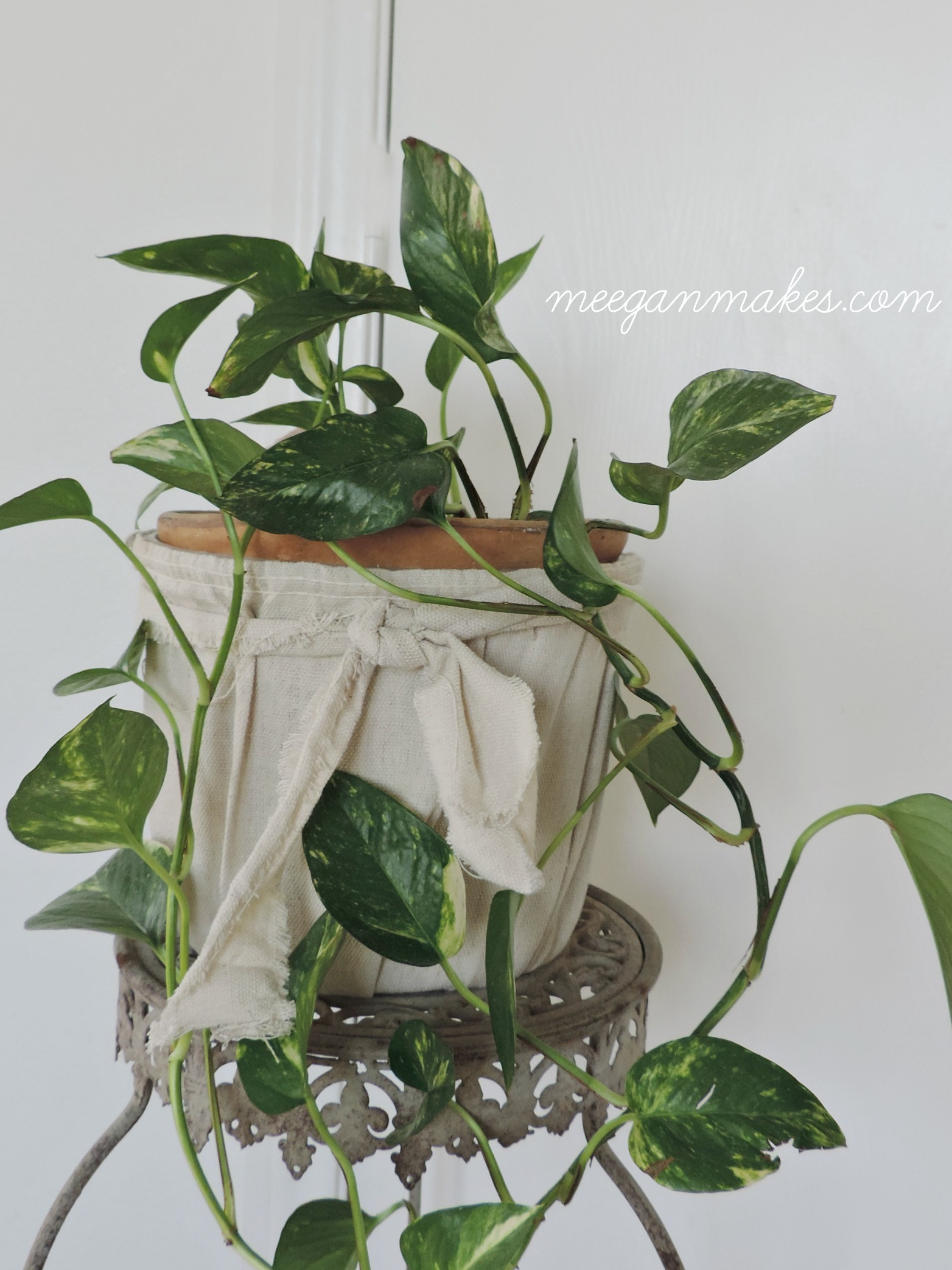 Anthropologie Inspired Drop Cloth Pot Cover