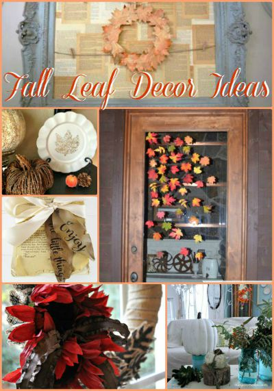 Fall Leaf Decor Ideas Button