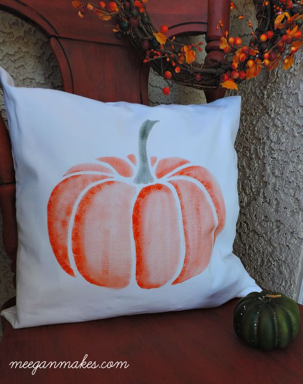 Fall Stenciled Pillow from Cutting Edge Stencils