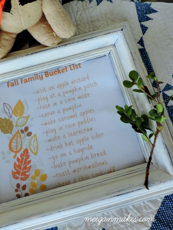 Family Fall Bucket List