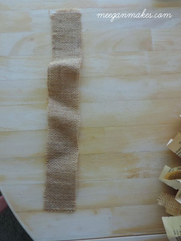 How to Cut Burlap the EASY way