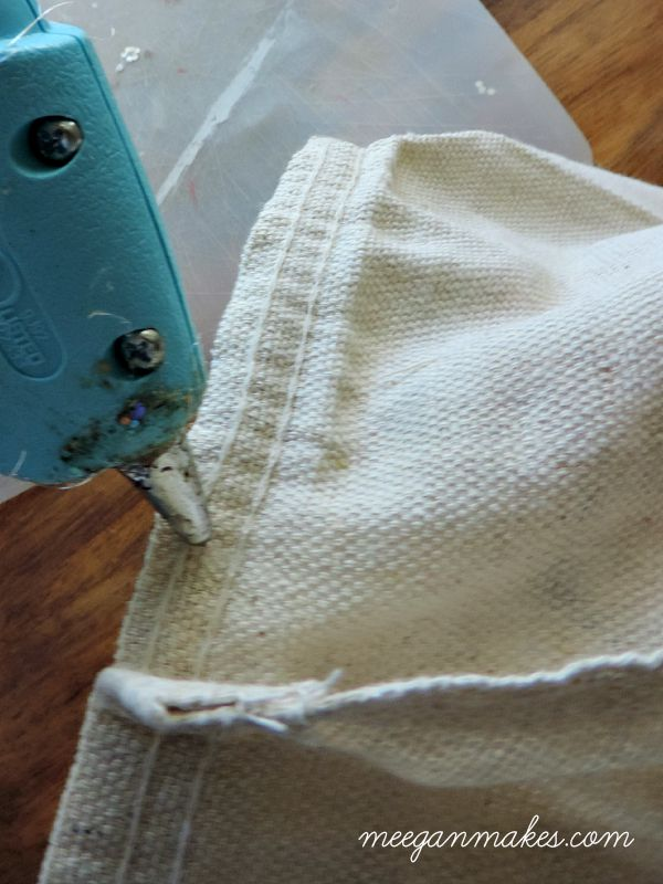 How to Make a Drop Cloth Covered Bucket
