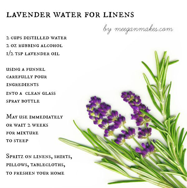 Lavender Water For Linens
