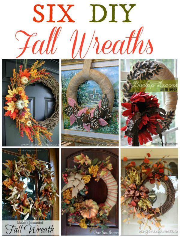 Six DIY Fall Wreaths