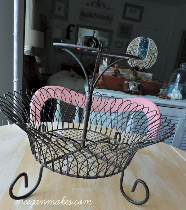 Thrifted Tiered Basket