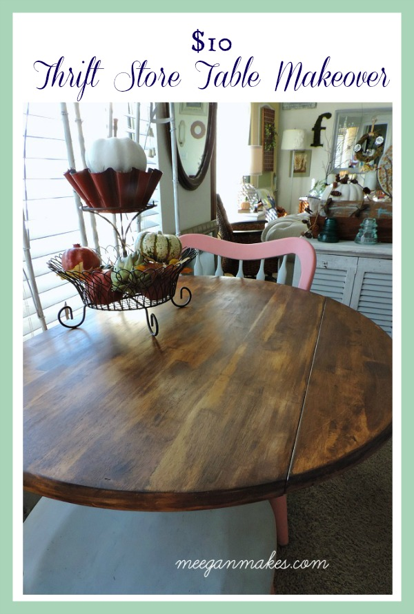 $10 Thrift Store Table Makeover