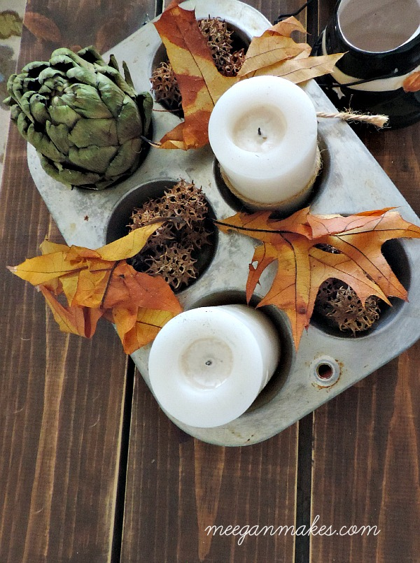 Fall Muffin Tin Decorating Idea