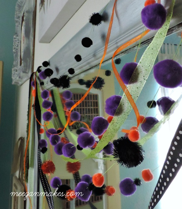 How to Make a Ribbon and Pom Garland