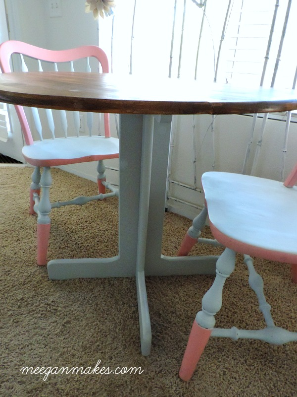 Thrifted Table Base Painted