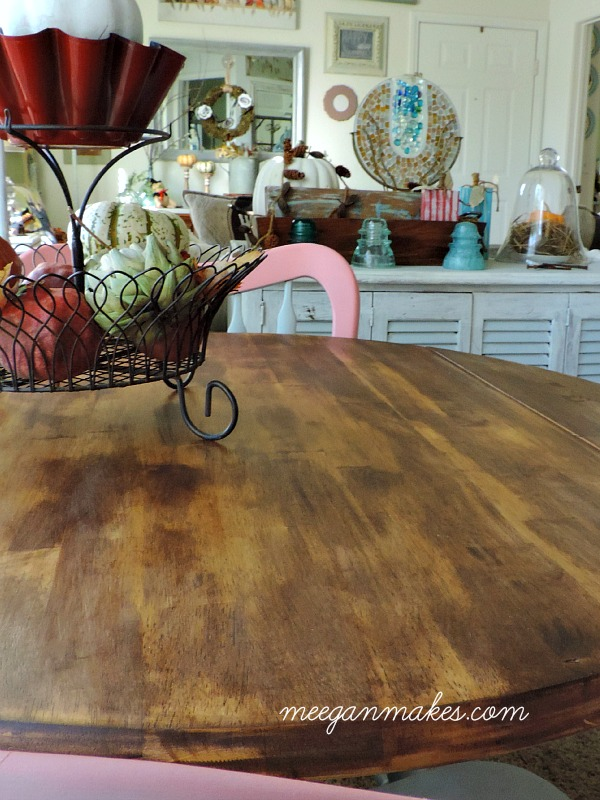 Thrifted Table Stained