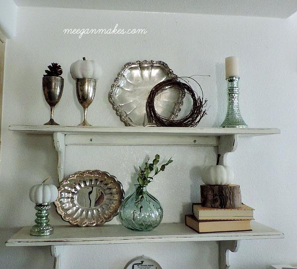 White Fall Shelves