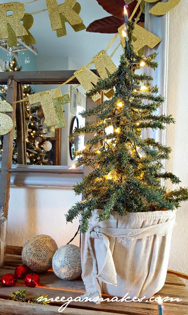 Christmas Tree on a Vintage Sled