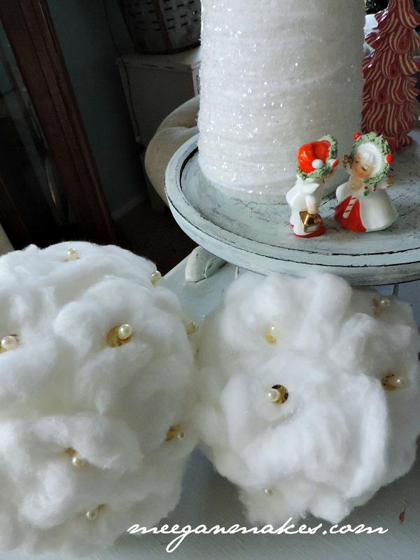 Cotton Ball Snowballs