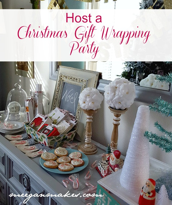 Host a Christmas Gift Wrapping Party