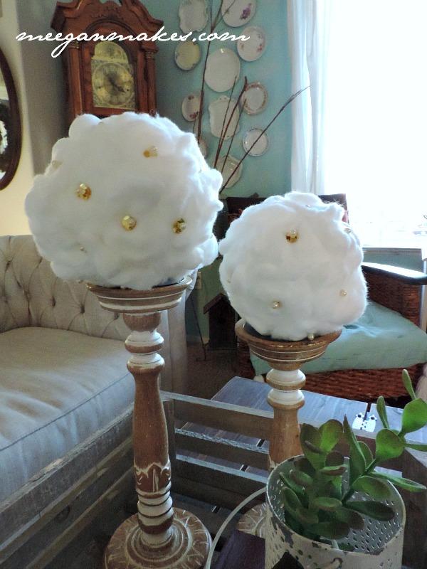 How To Make Cotton Ball Snowballs