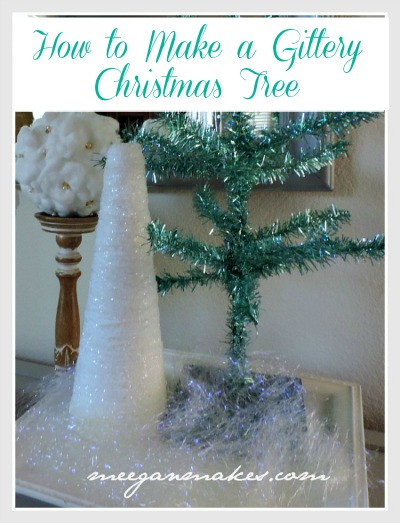 How To Make a Glittery Yarn Wrapped Christmas Tree with FloraCraft® Make It Fun® Foam