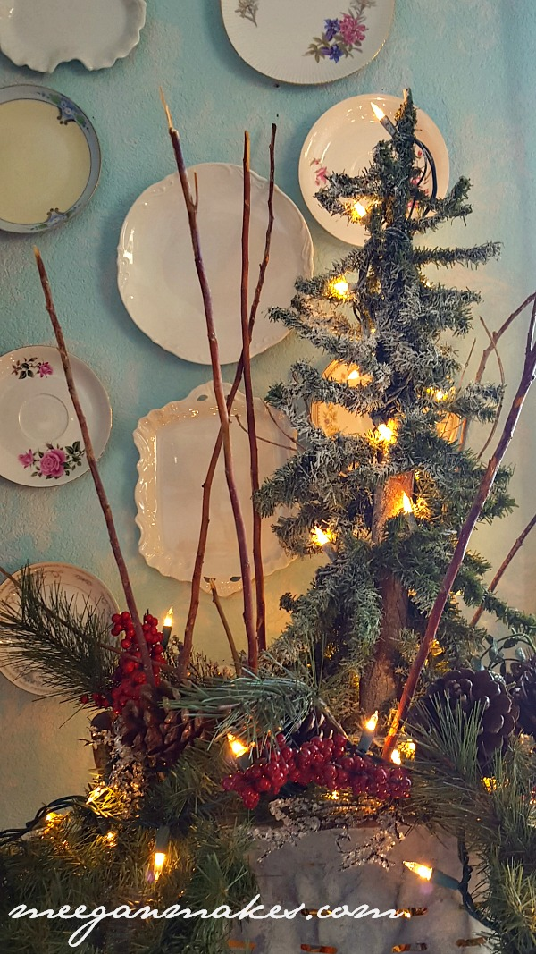 Vintage Olive Oil Christmas Decorating