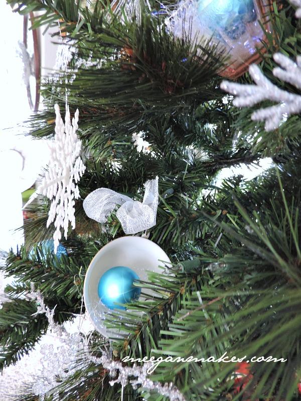 Blue Christmas Tea Cups