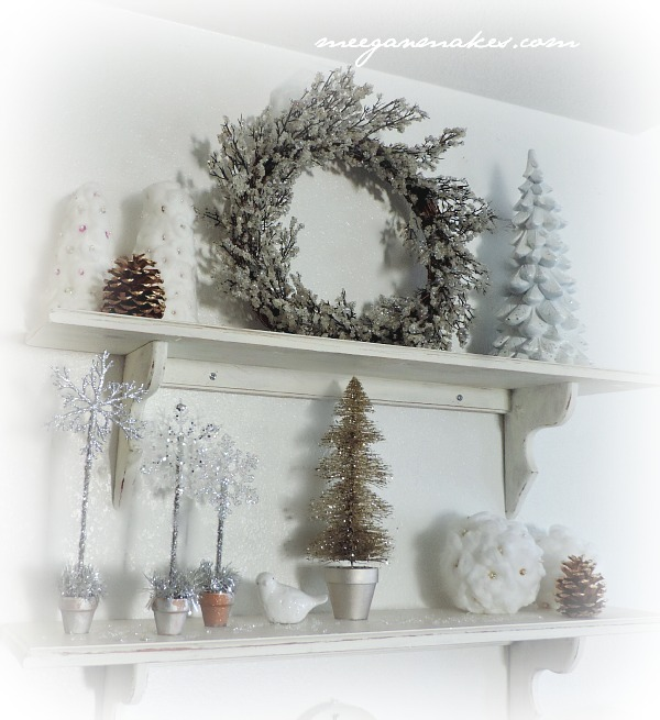Christmas Home Tour Open Shelves