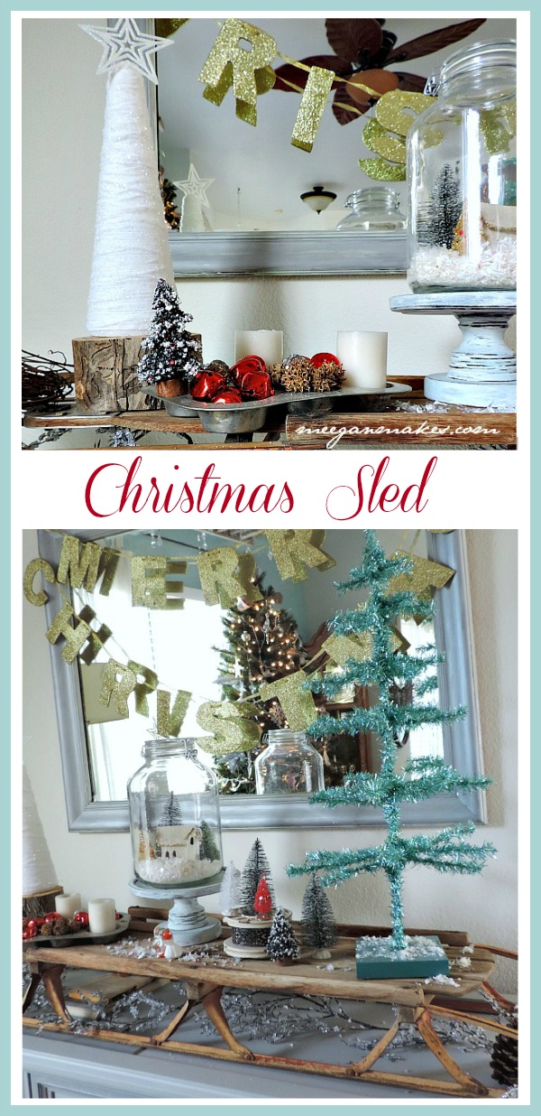 Christmas Sled Vignette