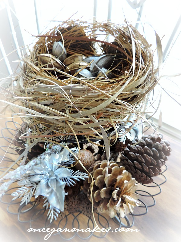 Christmas Tour Nest with Metallic Pecans