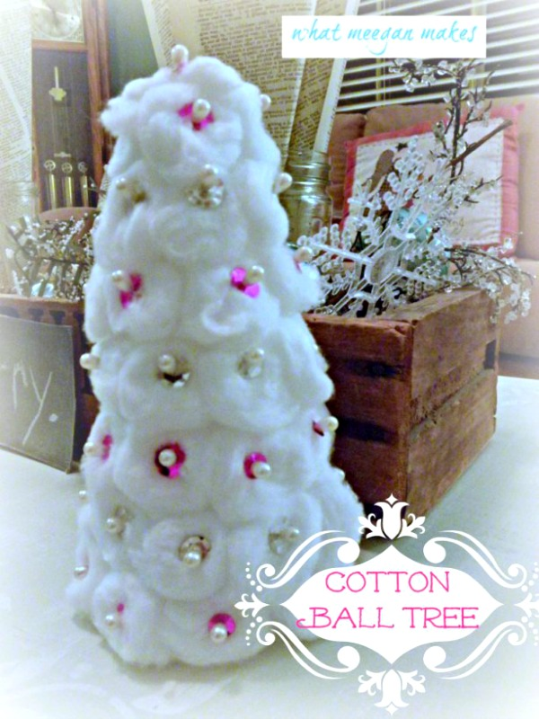 Cotton Ball Christmas Tree