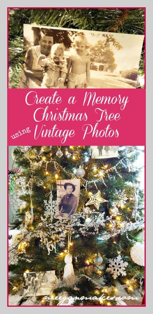 Create a Memory Christmas Tree Using Vintage Photos