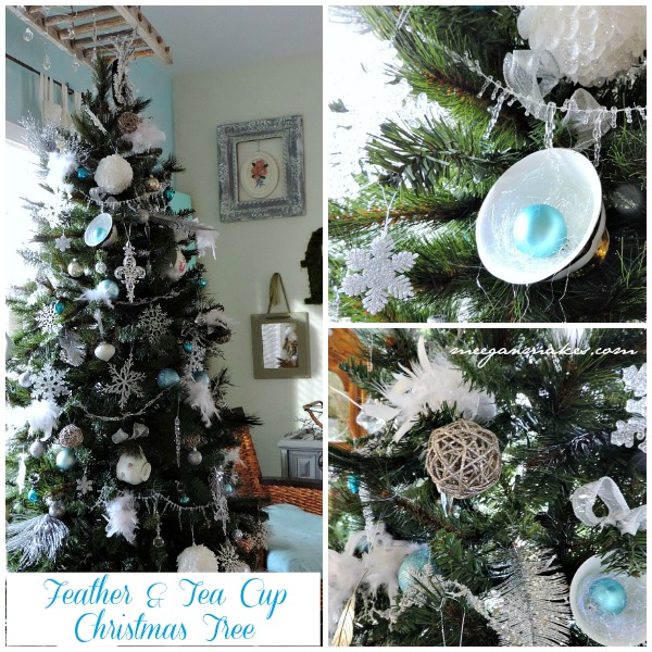 Feather & Tea Cup Christmas Tree