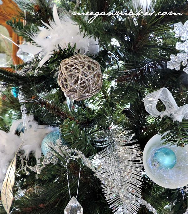 feather and blue christmas tree - Feather Christmas Tree Decorations