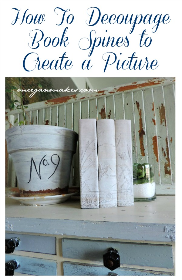 How To Decoupage Book Spines to Create a Picture