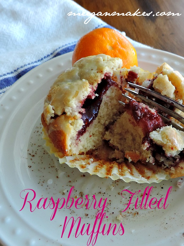 Raspberry Filled Muffins from Scratch