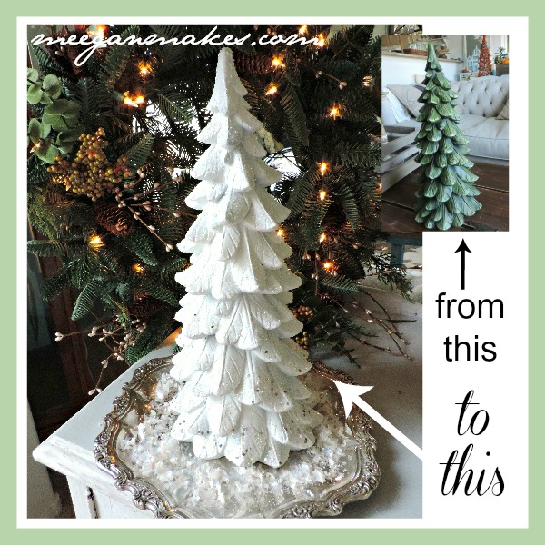 Thrifted Christmas Tree by meeganmakes.com